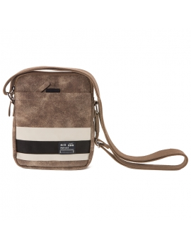 Bolso bandolera Strip marrón