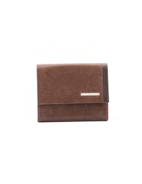 Portamonedas con solapa Elegant marrón