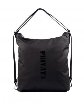 Bolso-mochila en color negro