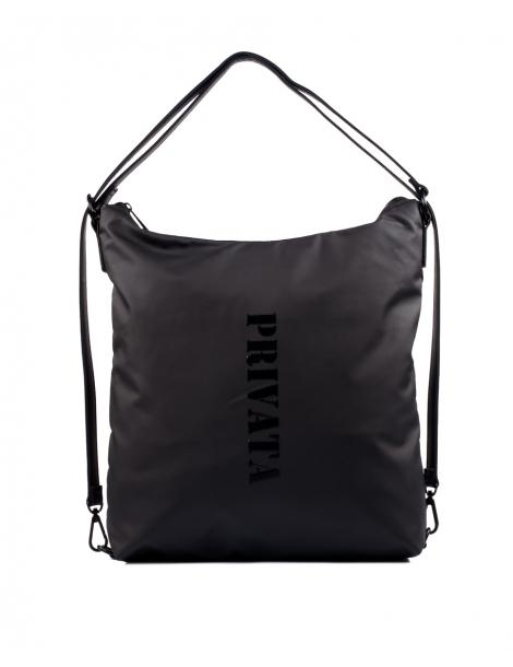 Bolso mochila en color negro Privata
