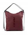 Bolso-mochila en color burdeos