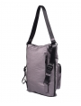 Bolso-mochila en color plata vieja