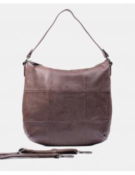Bolso de hombro en color marrón
