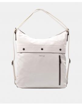 Bolso-mochila en color blanco
