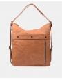 Bolso-mochila en color cuero